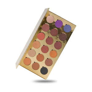 No Label eyeshadow refillable gold palette 18 colors