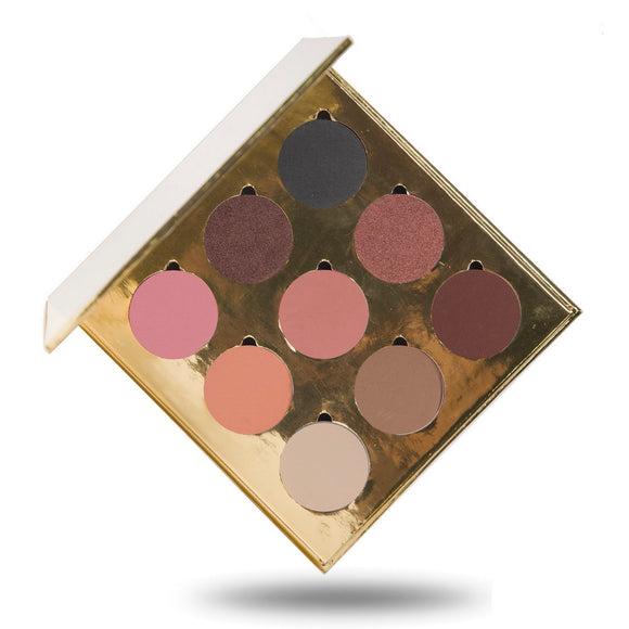 No Label eyeshadow refillable gold palette 9 colors