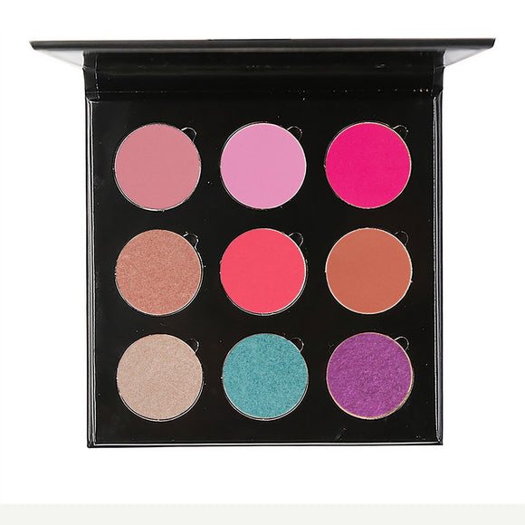 No Label eyeshadow refillable Black palette 9 colors