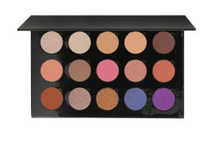 No Label eyeshadow refillable black palette 15 colors