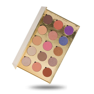 No Label eyeshadow refillable gold palette 15 colors