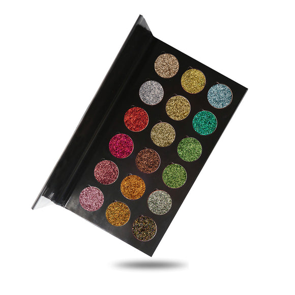 No Label eyeshadow refillable black palette 18 colors