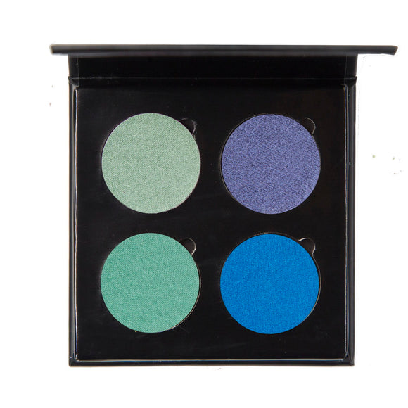 No Label eyeshadow refillable black palette 4 colors