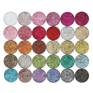 Pressed Glitter Sample Sets (Water Resistent, 30 colors)