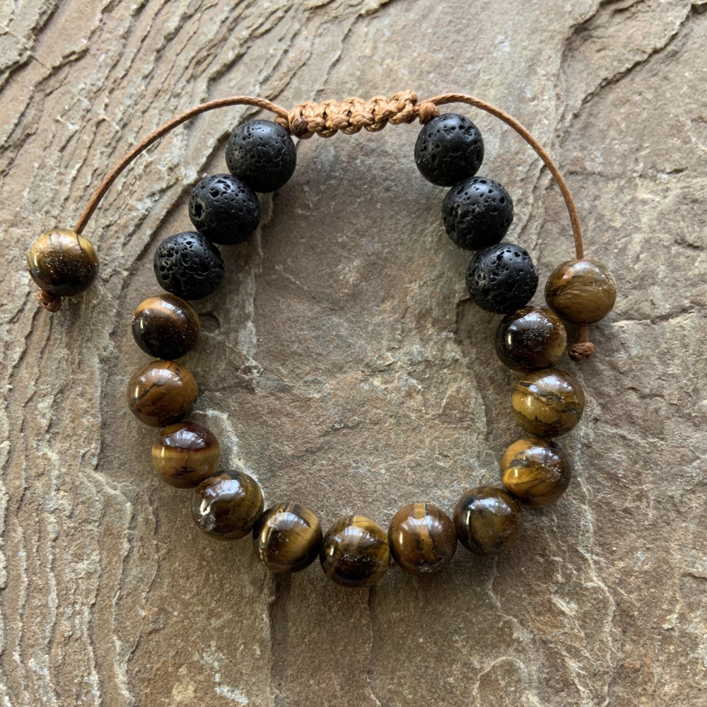 Kids Diffuser Bracelet - Tigers Eye - Peaceful Lotus - weighted blankets - acupressure - better sleep - sensory processing disorder - adhd - special needs - calm anxiety