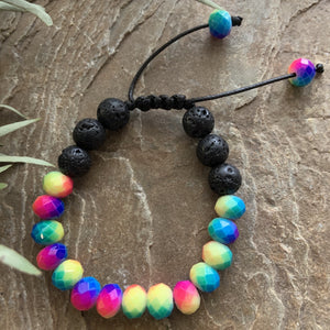 Kids Diffuser Bracelet - Rainbow - Peaceful Lotus - weighted blankets - acupressure - better sleep - sensory processing disorder - adhd - special needs - calm anxiety