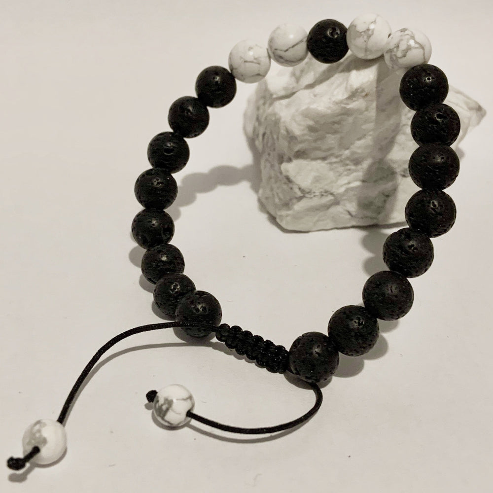 Diffuser Bracelet - Single Adjustable - Peaceful Lotus - weighted blankets - acupressure - better sleep - sensory processing disorder - adhd - special needs - calm anxiety