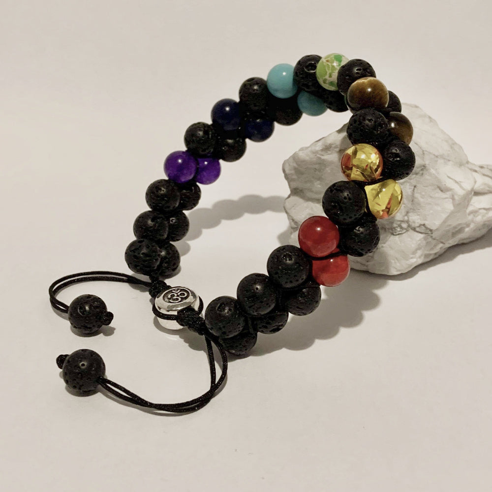 Diffuser Bracelet - Double Adjustable - Peaceful Lotus