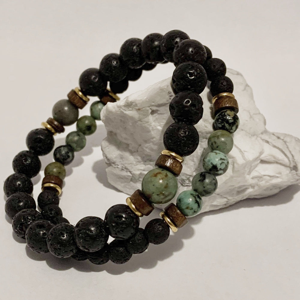 Diffuser Bracelet - Duo Set - Peaceful Lotus - weighted blankets - acupressure - better sleep - sensory processing disorder - adhd - special needs - calm anxiety