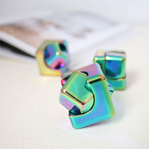 Rainbow Spinning Cube Fidget-Peaceful Lotus