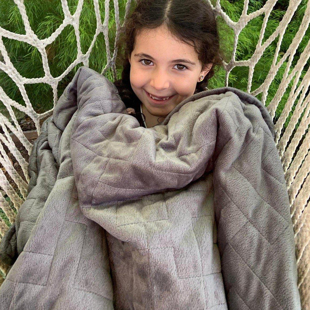 Children's Lotus Weighted Blanket - Peaceful Lotus - weighted blankets - acupressure - better sleep - sensory processing disorder - adhd - special needs - calm anxiety