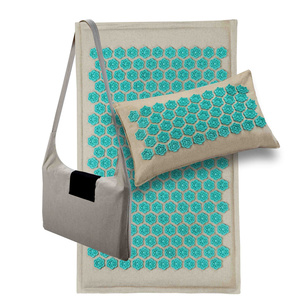 Lotus Acupressure Mat, Pillow and Bag