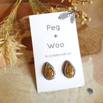 Peg+Woo - Teardrop Studs Small