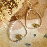Peg+Woo - Organic Oval Large Earrings Bright