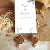 Peg+Woo - Compass Earrings