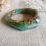 Bangle - Organic Facet Green/Aqua