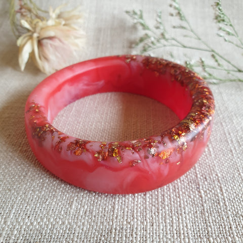 Bangle - Satin Offset Red/Pink