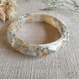 Bangle - Small Facet Ivory