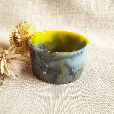 SALE Bowl - Small - Acid Yellow/Denim Blue