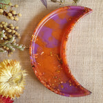 Dish - Crescent Moon - Purple and Orange