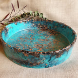 SALE Bowl - Cylinder Teal and Copper