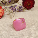 Square Ring Size US 8 1/2 Pink