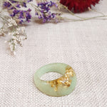 Soft Faceted Ring Size US 9 Soft Jade