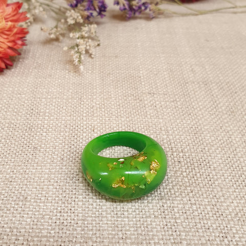 Arc Ring Size US 8 Apple Green