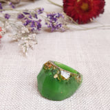 Gauntlet Ring Size US 10 Green