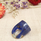 Round Ring Size US 7 3/4 Blue