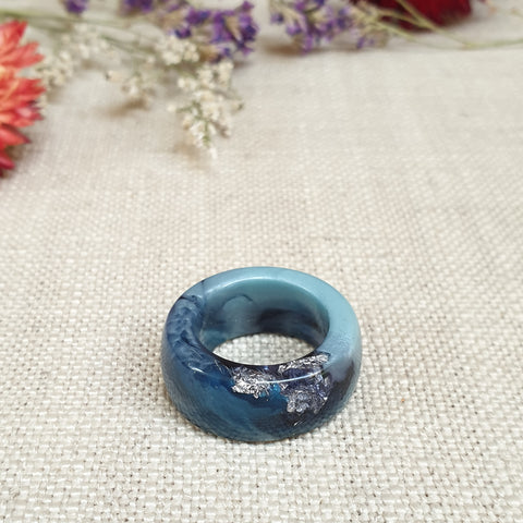 Simple Band Ring Size US 8 Denim
