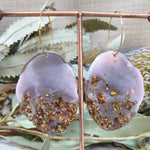 Geode Earrings - Musk/Mink