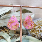 Shapes Earrings - Pink/Gold Teardrop