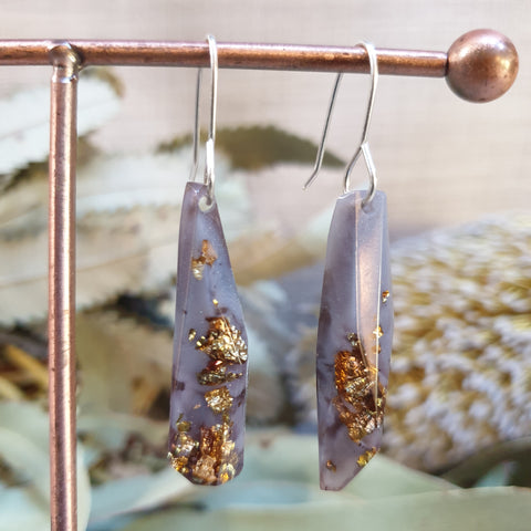 Shard Earrings - Warm Grey
