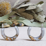 Hoop Earrings - Grey