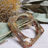 Metanical Bangle - Large Square Neutral