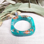 Bangle - Soft Edge Square Turquoise