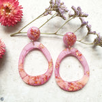 Orbit Earrings - Pink and Peach