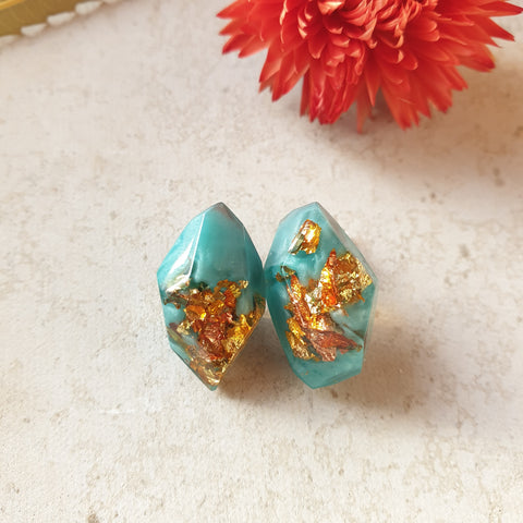 Nugget Studs - Turquoise