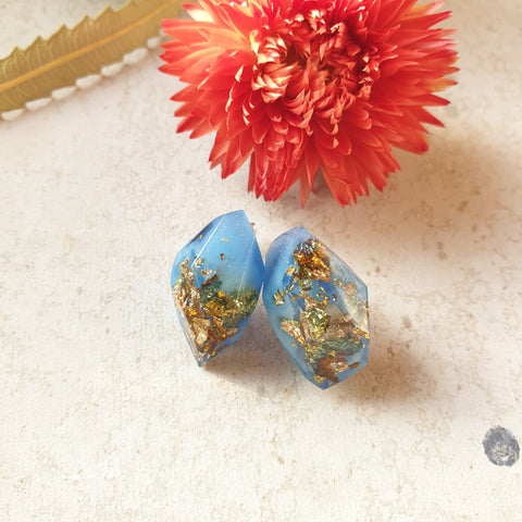 Nugget Studs - Tropical Blue