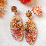 Metanical Skimmer Earrings - Pink Autumn  Paper Daisy