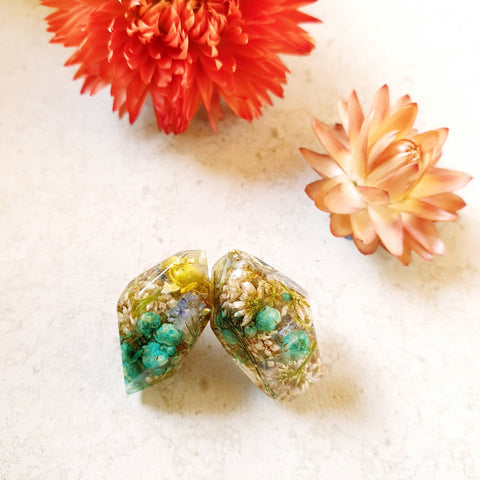 Metanical Nugget Studs - Teal