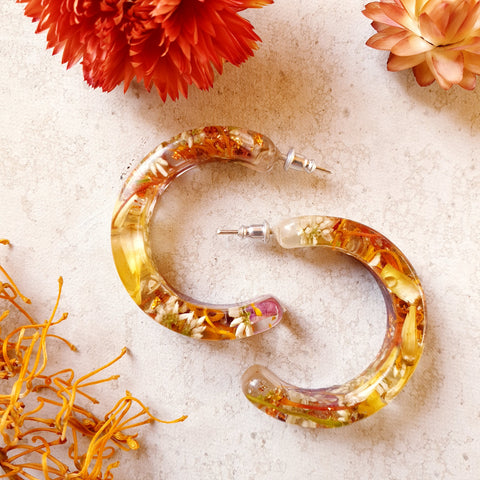Metanic Hoop Earrings - Warm Autumn