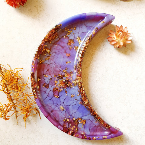 Dish - Crescent Moon - Purples
