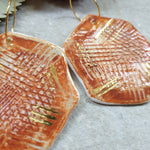 Ceramic Earrings - Organic Hex