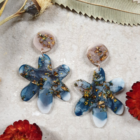 Party Mix Earrings - Daisy - Ochre + Ocean