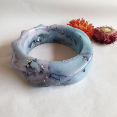 Bangle - Twisted Rope Blue Purple