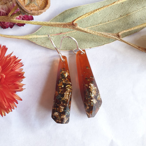 Shard Earrings - Deep Ochre