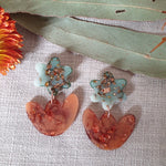 Party Mix Earrings - Mini Tulips - Eucaltypus + Terracotta