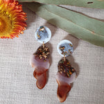 Party Mix Earrings - Clouds - Ocean + Ochre